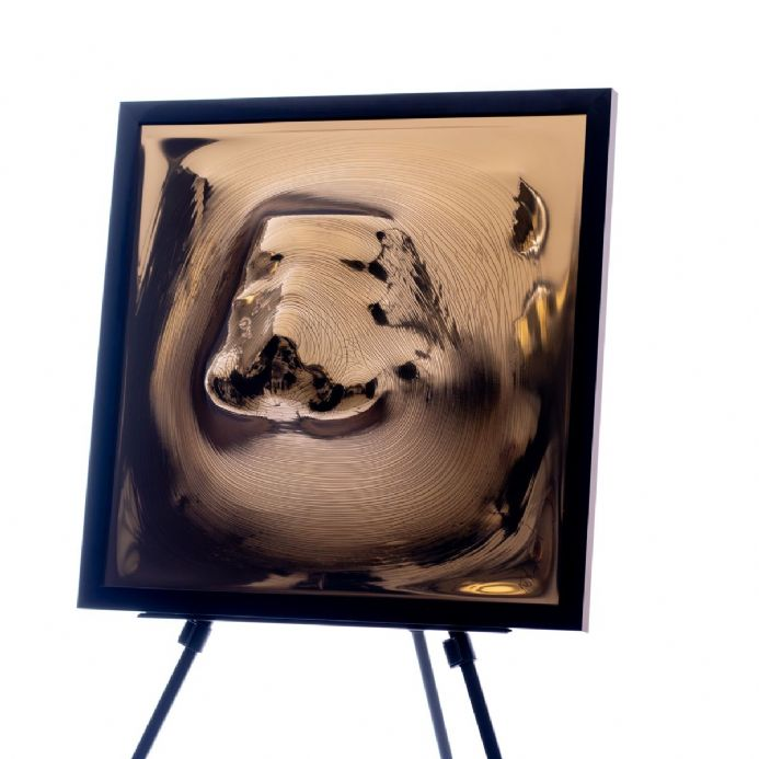 Emerging Stormtrooper (Broken Gold) In Black Frame
